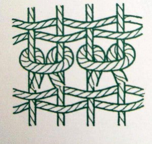 how to weave a Turkish knot