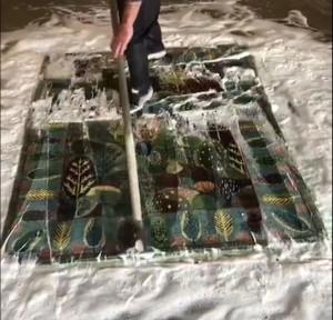 washing handmade rug after weaving it in Farahan Carpet