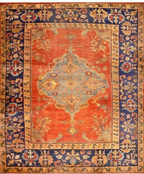 فرش سلطان اباد با رنگ های درخشان و طراحی خااص