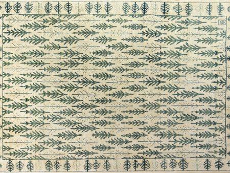 فرش دستباف سلطان آباد مدل کاج